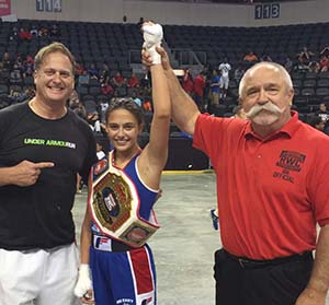 Alexis Lavarine, center, 2016 USA Boxing Ringside World Champion