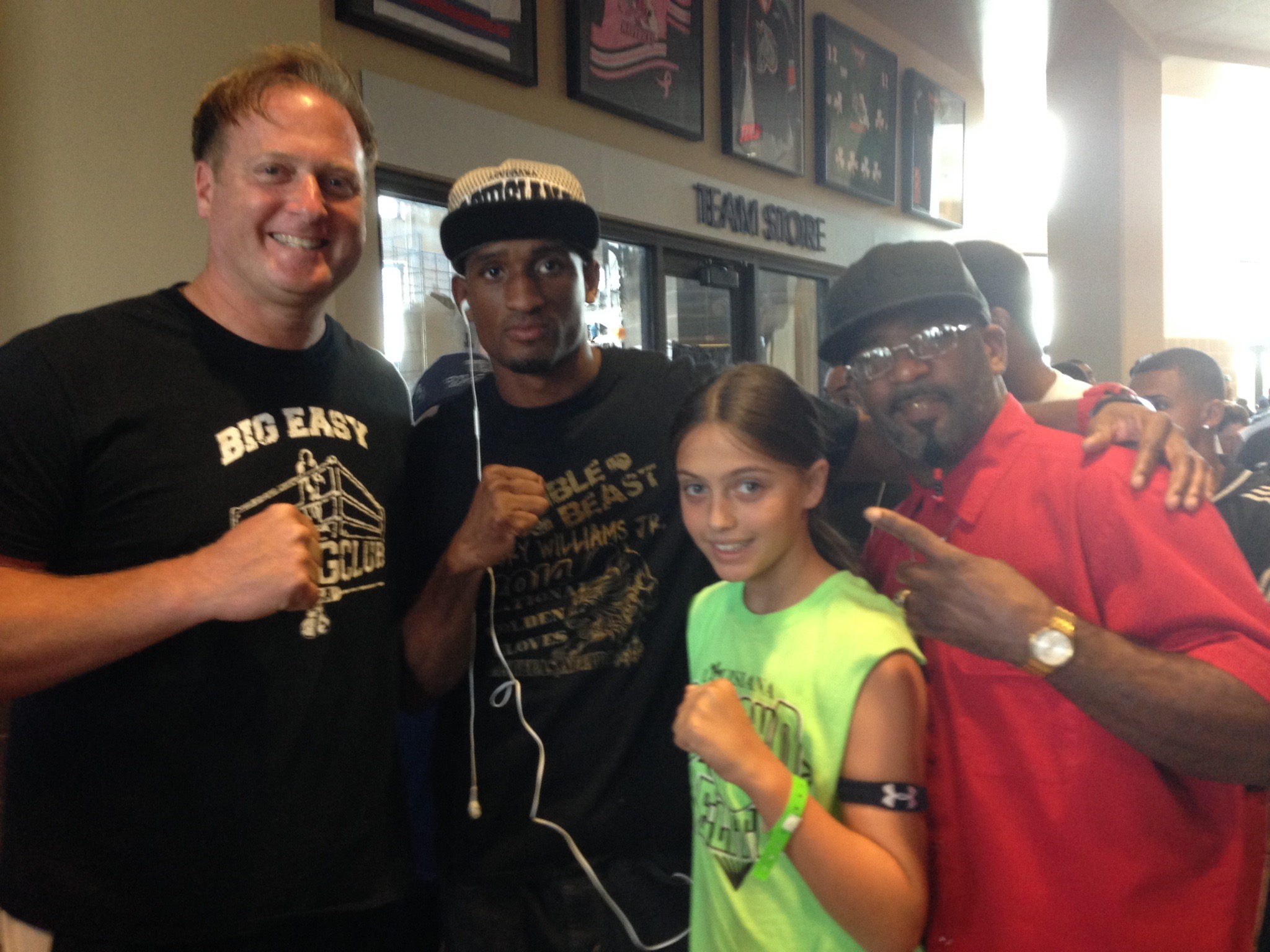 Alexis with former pro boxer Dupre Strictland and great amateur light heavyweight Torey Williams.
