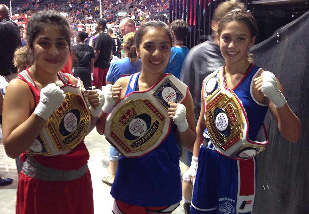 Alexis and fellow boxing champs