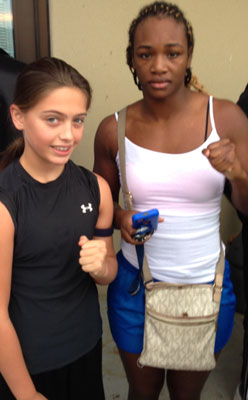 Alexis Lavarine with her friend 2012 USA Gold Medalist Clarissa Shields