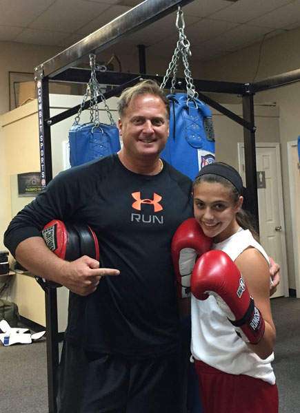 Alexis Lavarine with her USA Certified Boxing Coach David Lavarine (Alexis' Father)