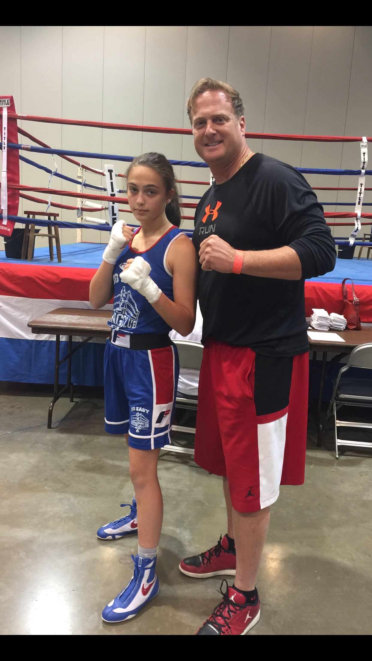 World Champion USA Boxer Alexis Lavarine and Coach David Lavarine
