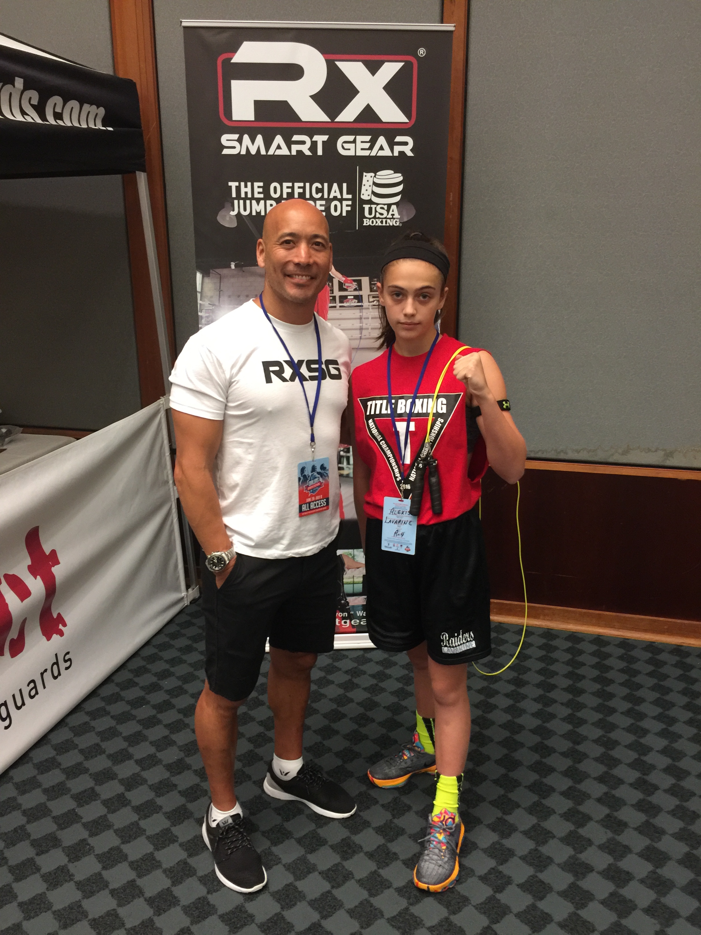 13 yr old 6 time National Champion and 2 time World Champion shows off the best jump ropes in the business at the 2016 Junior Olympics in Dallas, Tx.  RX Smart Gear!!!!  Give Owners Susan and David a shout and order yours today!!!  www.rxsmartgear.com
