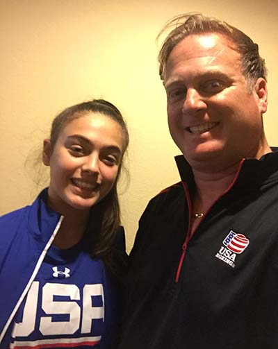 Alexis with her Father and Coach at the 2016 USA Amateur Boxing National Championships in Kansas City, Missouri