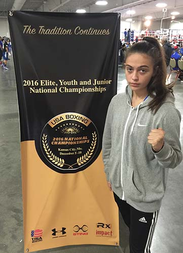 Alexis at the 2016 USA Amateur Boxing National Championships in Kansas City, Missouri