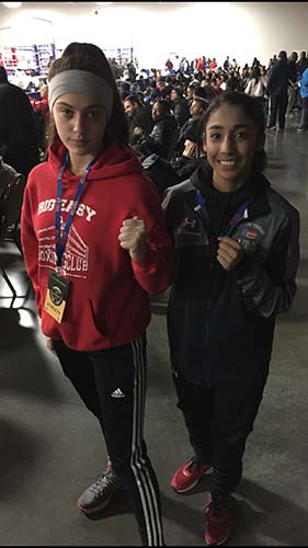 2016 USA Olympic National Qualifier Alexis Lavarine with good friend Esmeralda Navarro from South Texas