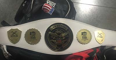 Alexis Lavarine's USA National Travel Team Championship Belt