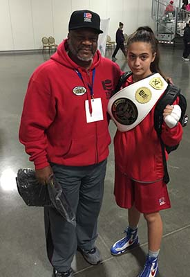 2017 National Team Member Alexis Lavarine with Coach Al from Charlotte,  North Carolina