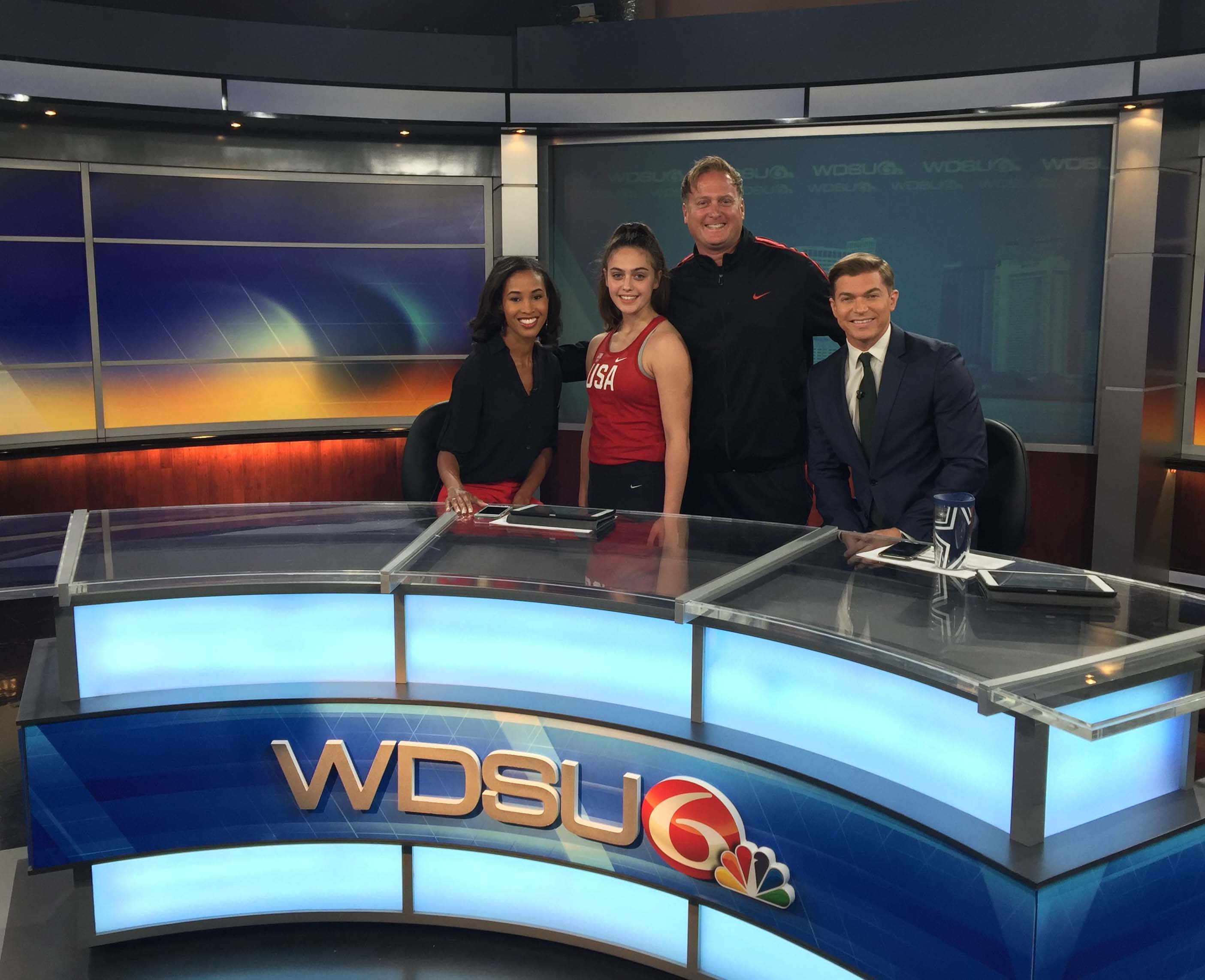 USA Team Member Alexis Lavarine with WSDU News Team