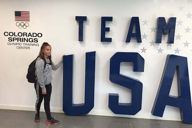 Alexis at the US Olympic Training Center