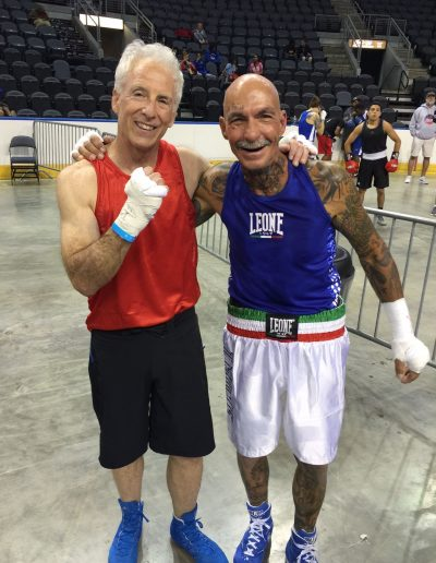 Marc Miller (red jersey) with the knockout at 61 years old