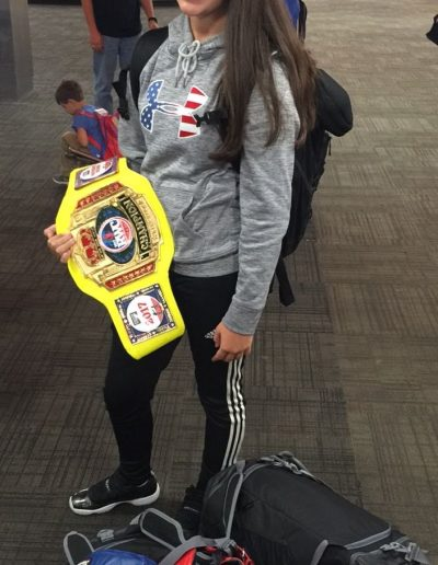 Champion bringing home the glory