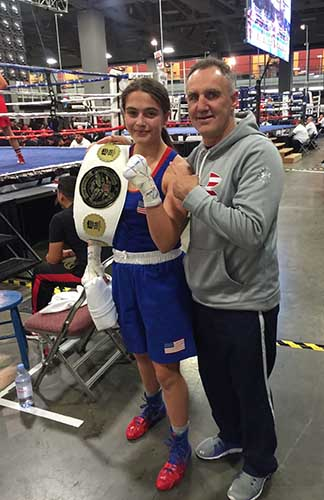 Alexis with USA Boxing Head Coach Billy Walsh