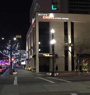 Salt Lake City night lights