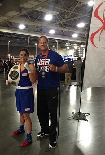 Alexis with her father and coach David Lavarine