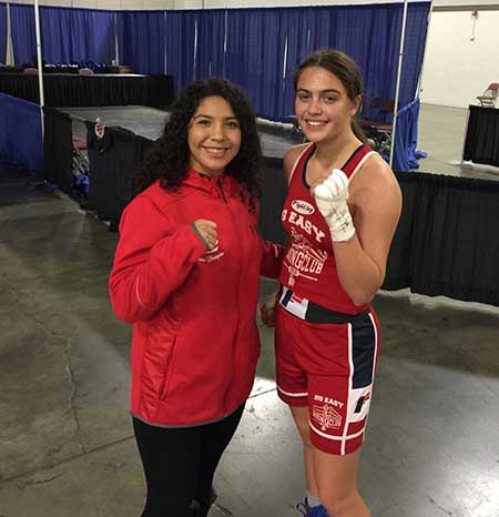 USA Boxing teammates Alexis Lavarine and Citali Ortiz