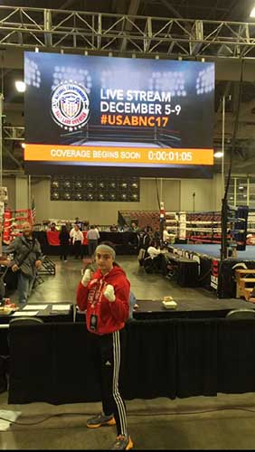 Alexis at the USA Boxing National Championships