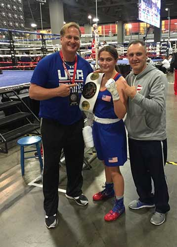 Dad, Alexis and USA Olympic Boxing Coach Billy Walsh