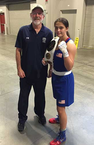 Alexis at the National Boxing Championships